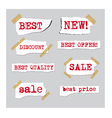 promotion sale labels vector image vector image