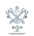 Anchor with crossed axes Design elements T-shirt vector image vector image
