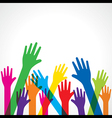 colorful up hand background - vector image