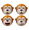 robot monkey vector image vector image