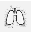 Drawing medical formulas lung vector image