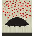 umbrella with raining hearts vector image vector image