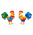 Two stylized roosters vector image vector image