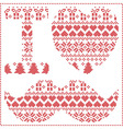 I love hipster pattern vector image