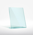 Blank glass award plate vector image