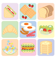 Breakfast Food Set vector image