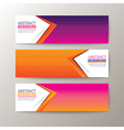 Modern abstract design banners template vector image