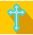 Religious symbol of crucifix flat icon vector image