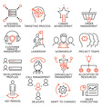 Set of icons related to business management - 36 vector image