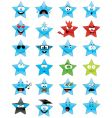 smiley stars vector image