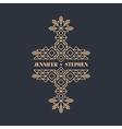 Wedding Invitation Line Art Design Linear Element vector image