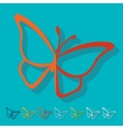 Flat design butterfly vector image