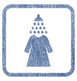 shower wash female dress fabric textured icon vector image