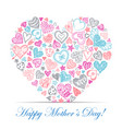 Colorful card with hearts vector image