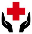 Healthcare icon vector image vector image
