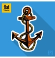 Sketch style hand drawn anchor flat icon vector image vector image