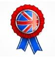 British award ribbon vector image vector image