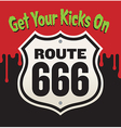 Get Your Kicks On Route 666 vector image vector image