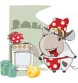 Gourmet Chef Cow Cartoon Characte vector image vector image