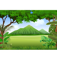 Cartoon of beautiful natural landscape vector image