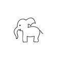 Doodle elephant animal icon vector image
