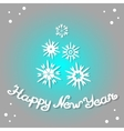 Happy New Year 2017 Design greeting card vector image