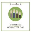 Volunteer Day vector image
