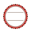 circle seal frame icon vector image vector image