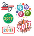 happy new year 2017 text design creative vector image