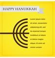 hanukka menorah on yellow happy hanukkah vector image