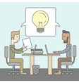 Business brainstorming vector image