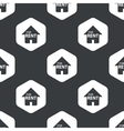 Black hexagon house rent pattern vector image