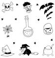 Set of halloween doodle hand draw vector image