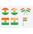 badges with flag of Niger vector image