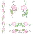 delicate flower ornament vector image
