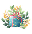 gift and branch vector image