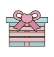 gift box ribbon bow pink heart vector image