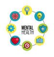 Mental health symbol tips vector image