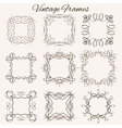 Set of frames Hand-drawn calligraphic and vector image