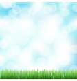 spring bokeh background vector image