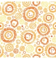 Sunny faces seamless pattern background vector image vector image