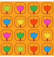 Pattern with stylized tulips vector image vector image