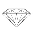 black and white diamond vector image