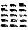 cargo trucks silhouette 01 vector image vector image
