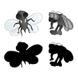ugly bugs freehand vector image