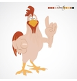 Cartoon funny rooster vector image