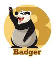 abc cartoon badger vector image