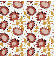 beautiful colorful sunflowers seamless pattern vector image