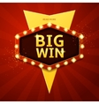 Big win retro banner vector image