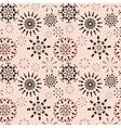 Christmas seamless pattern Brown snowflake signs vector image